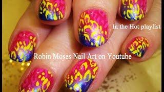 Nail Design For Short Nails | Diy Easy Rainbow Animal Print Tutorial