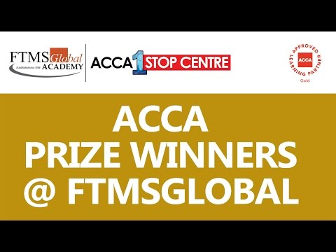 ACCA Prize Winners at FTMSGlobal Academy