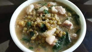 FILIPINO MUNG BEAN SOUP (MONGGO GUISADO)  GINISANG MUNGGO (MONGGO) WITH PORK