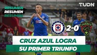 Resumen Cruz Azul 2 - 0 FC Juárez | Apertura 2019   Jornada 4 | TUDN