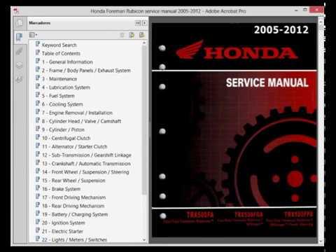 honda rubicon 500 fa fga fpa workshop service repair manual rh youtube com 2004 honda rubicon 500 service manual 2013 honda rubicon 500 service manual