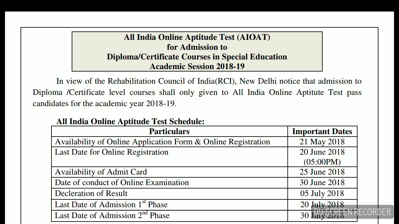 AIOAT Syllabus 2018 | All India Online Aptitude Test | Special Education  Courses | Educational Hub