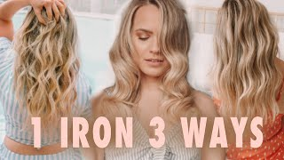 1 Curling Iron 3 Totąlly Different Curls & Waves - Kayley Melissa
