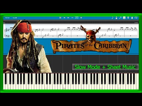 Pirates of the Caribbean - Medley [Slow + Sheet Music] (Piano Tutorial)