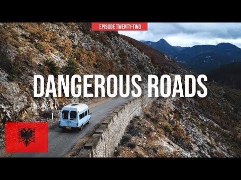 Driving ALBANIA'S Worst Road | Balkan Van Life Series