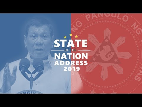 2019 State of the Nation Address of President Rodrigo Duterte