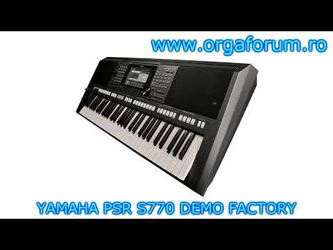 Yamaha psr s770 arranger workstation keyboard first look for Yamaha psr s770 review