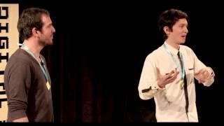 Carlos Velasco and Charles Michel at Digital Biscuit 2014