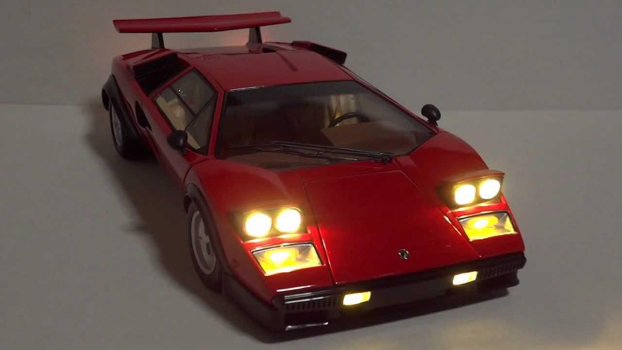 1 18 Kyosho Lamborghini Countach Walterwolf Ver Led