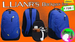 LUNAR BAGS | BLUE & BLACK 25 L Medium (बैग) Backpack | REVIEW | FIRST LOOK