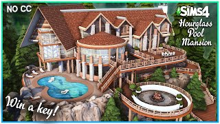 Sims 4 Hourglass Pool Mansion + GIVEAWAY! [No CC] - Sims 4 Speed Build | Kate Emerald