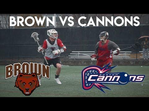 Brown Lacrosse Vs Boston Cannons In The Pouring Rain || 2018