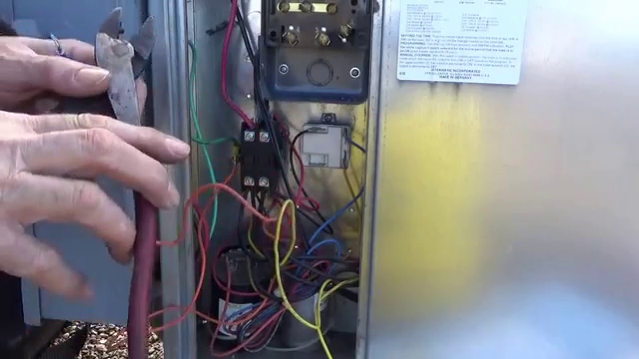 Defrost time clock replacement and wiring  YouTube