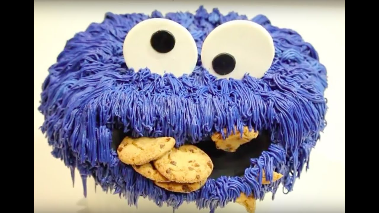 how to make a COOKIE MONSTER CAKE Its A Piece Of Cake YouTube