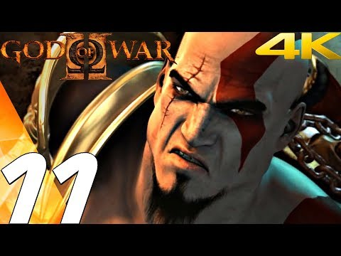 God of War 2 HD - Gameplay Walkthrough Part 11 - Sisters of Fate Boss Fight [4K 60FPS]