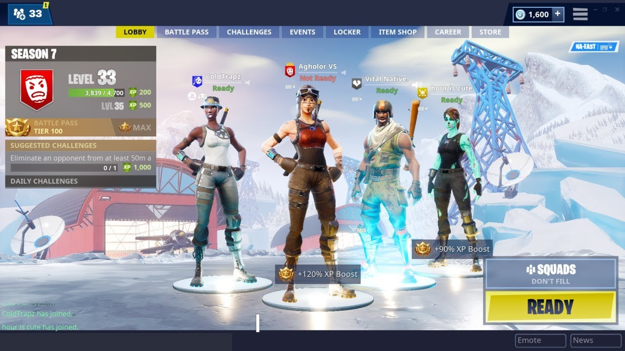 you see this squad coming at you    wyd? (ALL OG SKINS)