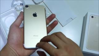 iPhone 7 Unboxing and Home Button Setup   Gold
