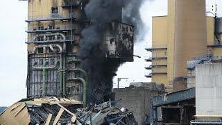 Porta Westfalica: Feuer in ehemaligem Steinkohlekraftwerk