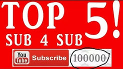 Best sub 4 sub website    New 2017