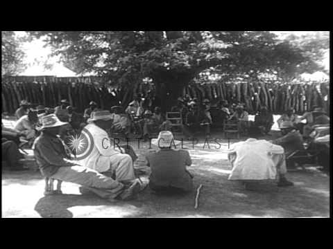Sir Seretse Khama and his wife Ruth Williams in Bamangwato, East Africa. HD Stock Footage