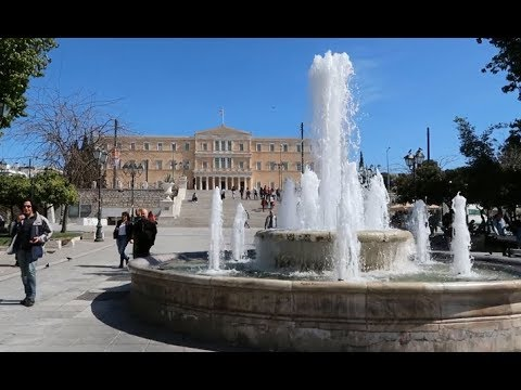 Athens Street Walk 2019   Flea Market And Syntagma Square