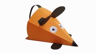 Как сделать мышку из бумаги. Бумажная мышь. Поделки для детей своими руками.