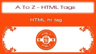 A To Z HTML Tags | html hr tag tutorial