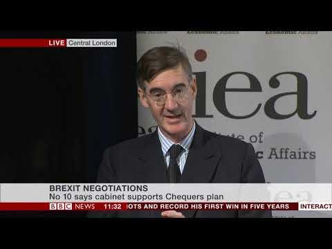 David Davis & Jacob Rees Mogg speak at IEA Brexit plan Launch