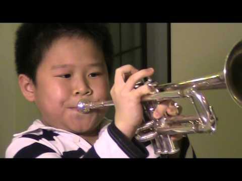 7 Years Old Maurice Mao Plays Trumpet  Triple High C 毛佳瑞 吹3点 C (2015 4 23 )