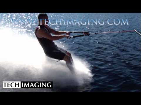 High Speed Camera Video - Bare foot waterskiing