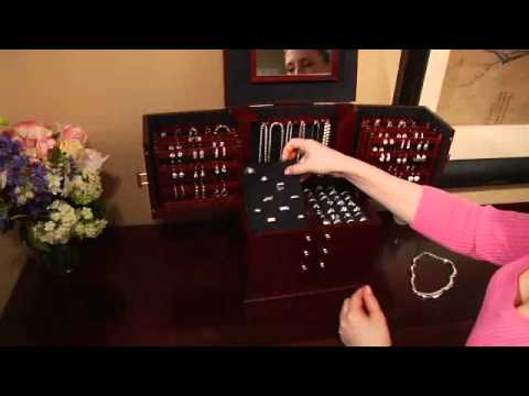 Luxury Silver Safekeeper Deluxe Jewelry Box by Lori Greiner Item