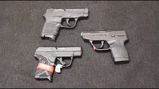 Ruger LCP II vs S&W Bodyguard vs Taurus TCP