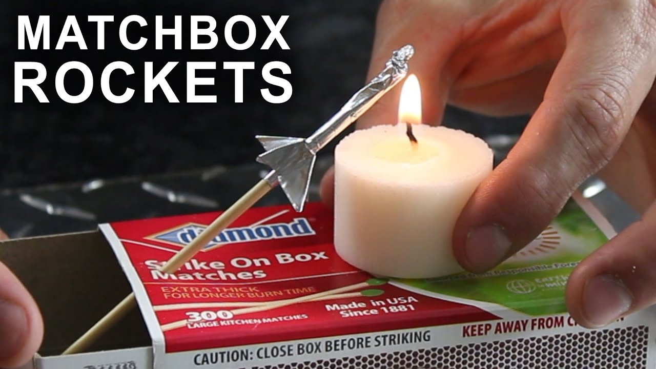 Papercraft How To Make a Matchbox Rocket Launching Kit