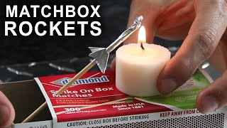 How To Make a Matchbox Rocket Launching Kit(How to make rockets that shoot over 40 feet, with aluminum foil and a match. Some quick links to a few of the materials I used: [✓] Safety Matches: ..., 2014-12-11T16:47:55.000Z)