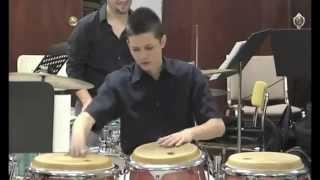 Puerto Rico Percusionistas, Recital del talentoso joven  Daniel Diaz  musica Jibaro de PR