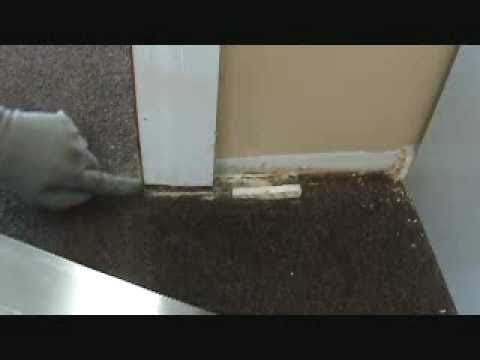 Installing a hardwood laminate floor how to undercut a for Door undercut