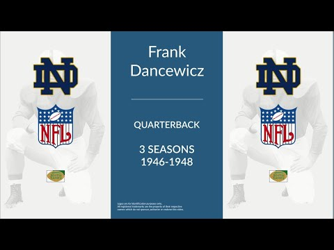 Frank Dancewicz: Football Quarterback