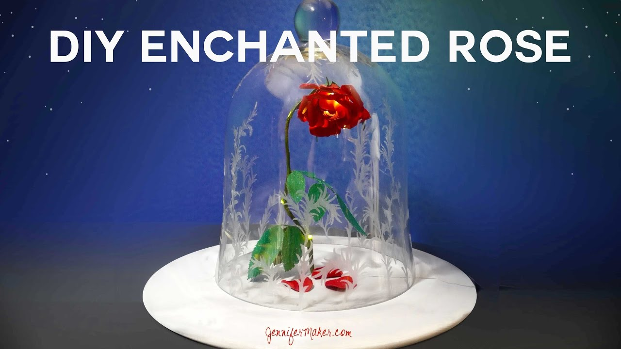 Diy Enchanted Rose Tutorial From Disney S Beauty The Beast Live Action Movie