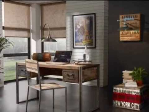 Decoracion Industrial Vintage : Muebles de Diseño Industrial-Vintage - YouTube