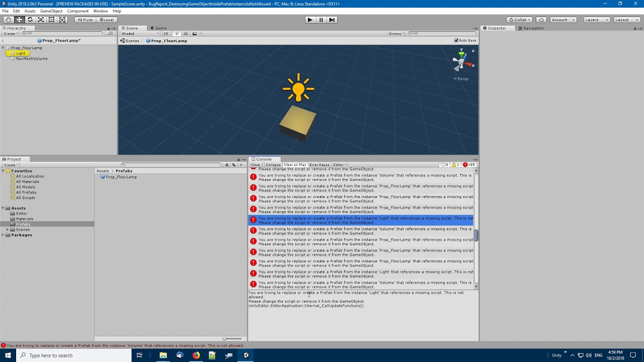 Case 1086978) Cannot remove object from Prefab - Unity Forum