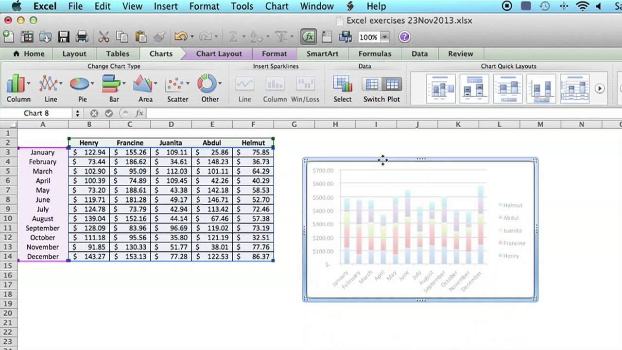 How to switch the row column layout of a chart in microsoft excel how to switch the row column layout of a chart in microsoft excel using ms excel youtube publicscrutiny Image collections