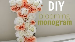 Diy | Blooming Monogram | Rachel Republic