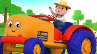 trator para crianças   músicas de veículos para crianças   Tractor Song   Farmees Português