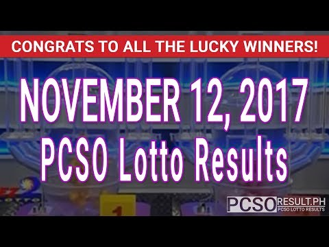 PCSO Lotto Results Today November 12, 2017 (6/58, 6/49, Swertres & EZ2)