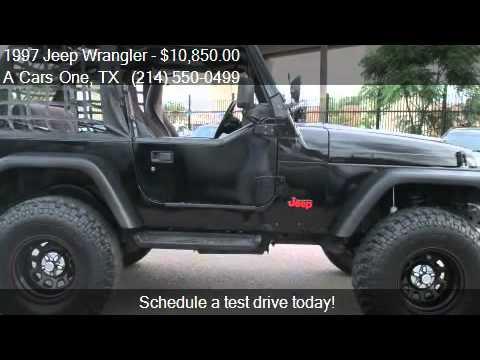 1997 jeep wrangler se 2dr 4wd convertible for sale in dallas youtube. Black Bedroom Furniture Sets. Home Design Ideas