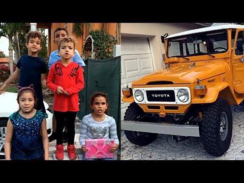 Nacho Mendoza graba a sus hijos cantando y presume a su carro (redes sociales 3 de febrero 2018)