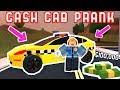 PRANK TAXI IN JAILBREAK! *Cash Cab* - Roblox Jailbreak Fan Games
