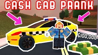 PRANK TAXI IN JAILBREAK! *Cash Cab* - Roblox Jailbreak Fan Games