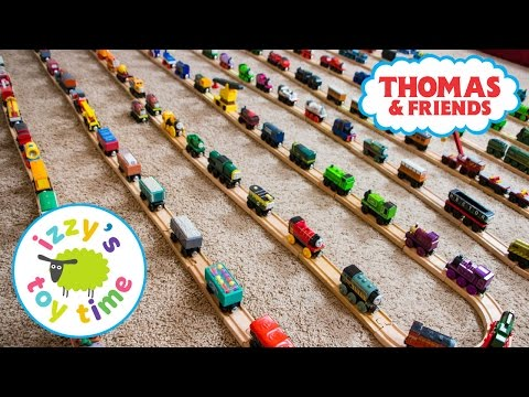 Thomas and Friends | Izzy's Thomas Train Collection! With KidKraft Brio and Imaginarium | Toy Trains
