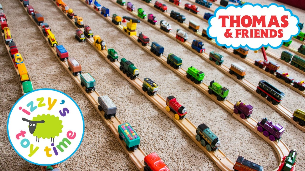 Thomas And Friends Izzys Thomas Train Collection With Kidkraft Brio And Imaginarium Toy Trains